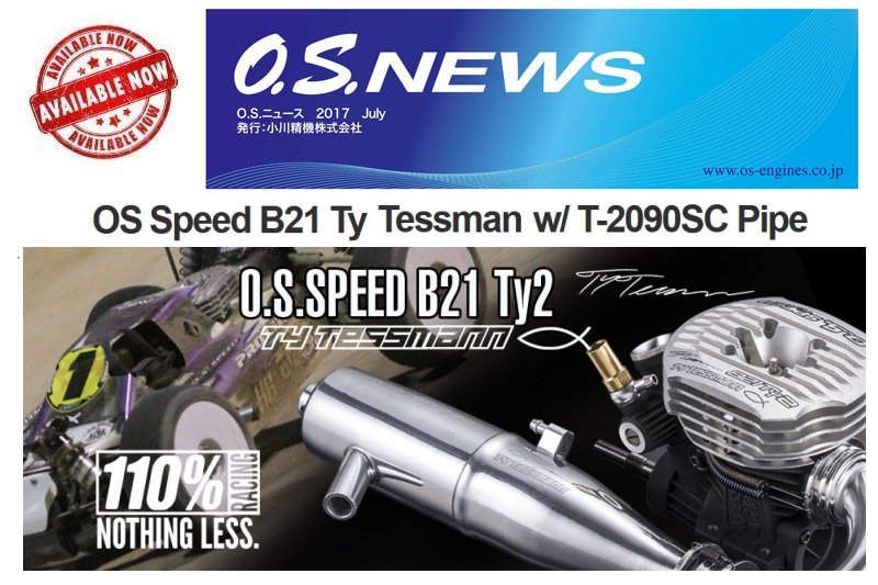 O.S. Speed B21 Ty2 .21 Engine Combo
